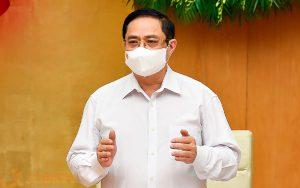 Thủ tướng Chính phủ Phạm Minh Chính phát biểu kết luận phiên họp